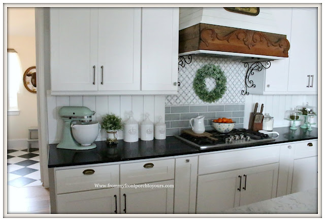 French Country Farmhouse Kitchen-House-To-Home-Custom Kitchen-Cottage Style-From My Front Porch To Yours