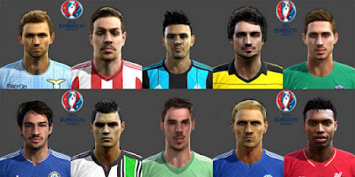 Facepack Road To Uefa Euro 2016 Pes 2013