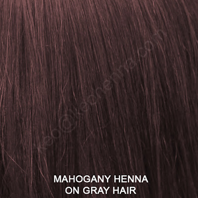 Mahogany Henna On Gray Hair