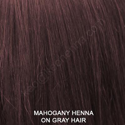 Mahogany Henna On Gray Hair