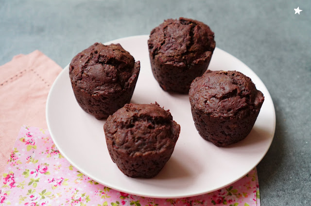 muffins betterave cacao dessert vegan goûter healthyfood IG bas