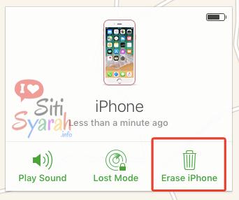 hapus akun icloud di iphone jarak jauh