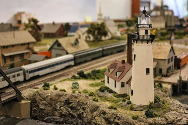 Model railroad at Boothbay Railway Museum