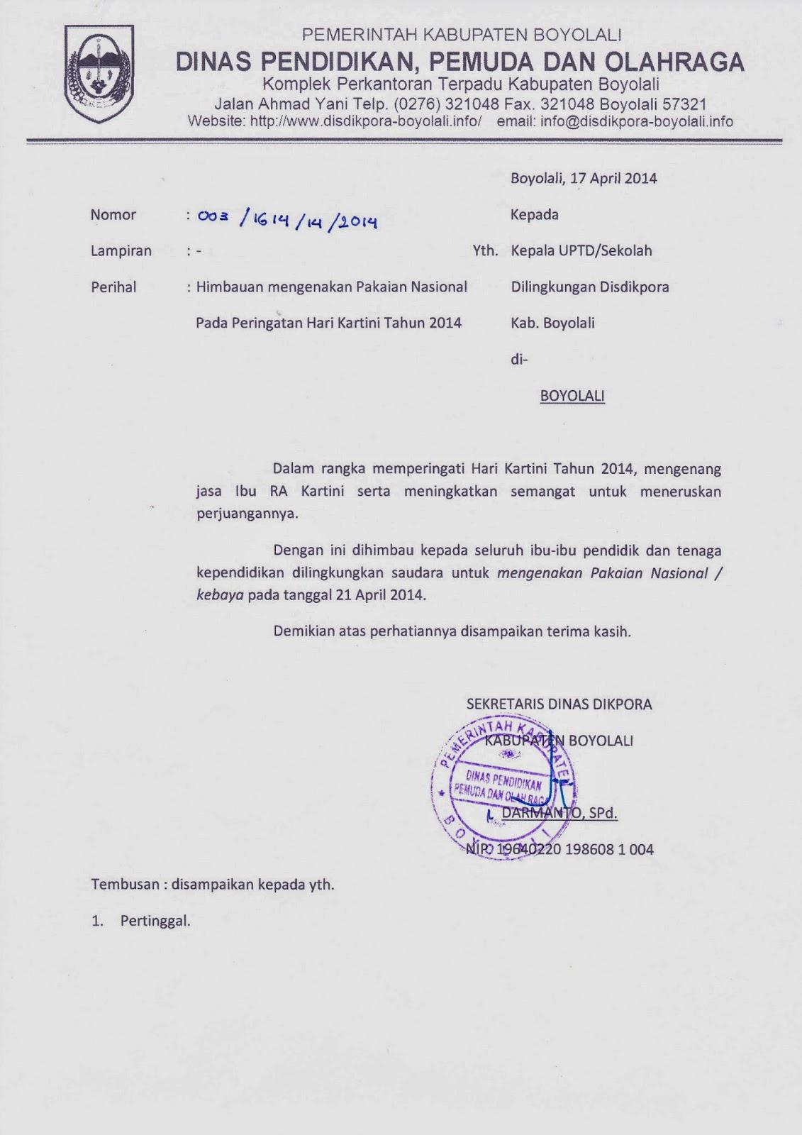Info Sma Smk Kabupaten Boyolali Himbauan Mengenakan Pakaian