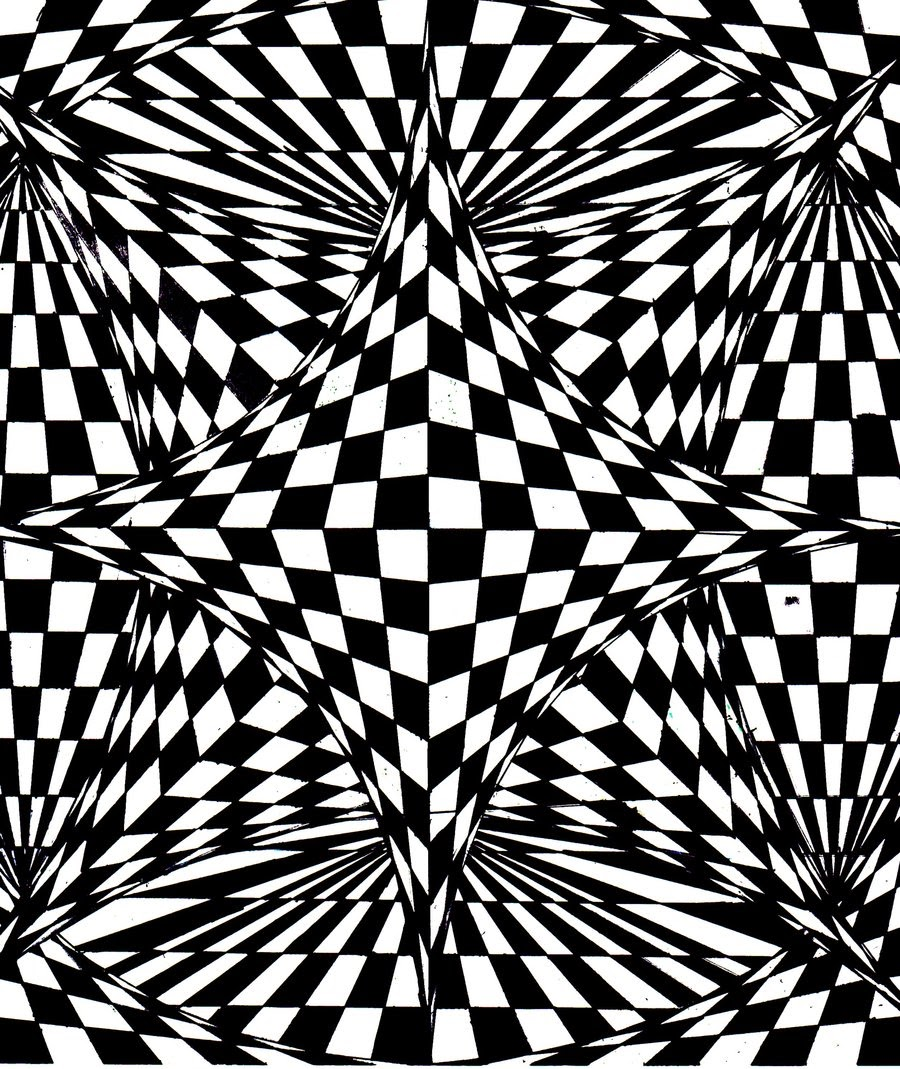 Line Art Printing And Design : Sabi nails co to jest op art inspiracje