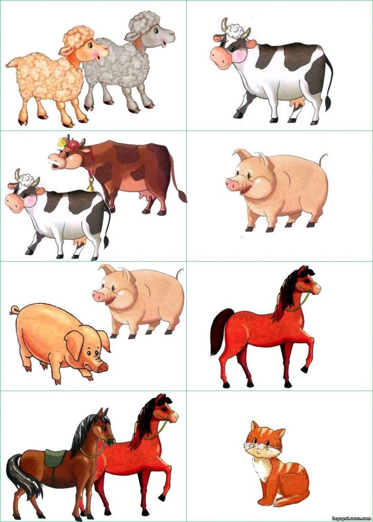 Картинки животные для детей для занятий в детском саду