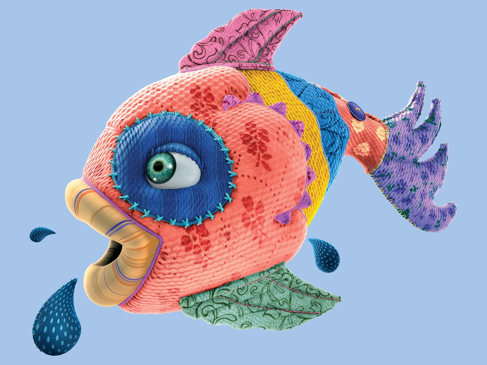 3d fish from fabrics hd wallpaper | download hd wallpapers