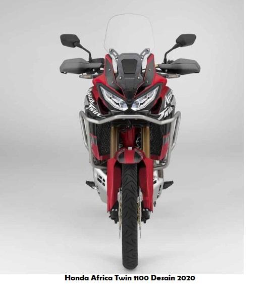Tampilan depan Honda CRF 1100L Africa Twin tahun 2020