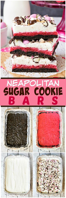 Neapolitan Sugar Cookie Bars