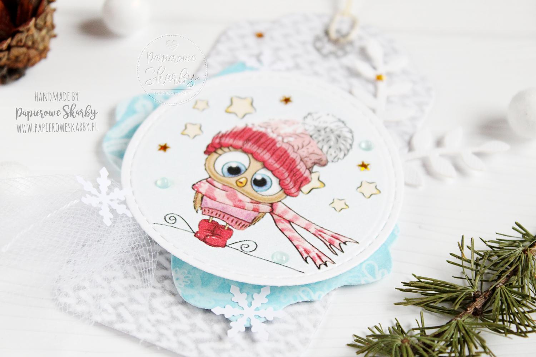 scrapbooking handmade rękodzieło cardmaking tag bilecik prezent prezentowy na  Święta Boże Narodzenie Merry Christmas Papierowe Skarby ilovedigi i love digi stempel stempelek stemple stempel