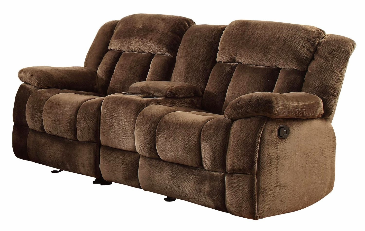 Attirant Homelegance Chocolate Brown Reclining Sofa With Center Console