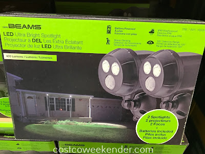 Costco 1600084 - Mr Beams LED Ultra Bright Spotlight helps once it starts getting darker earlier