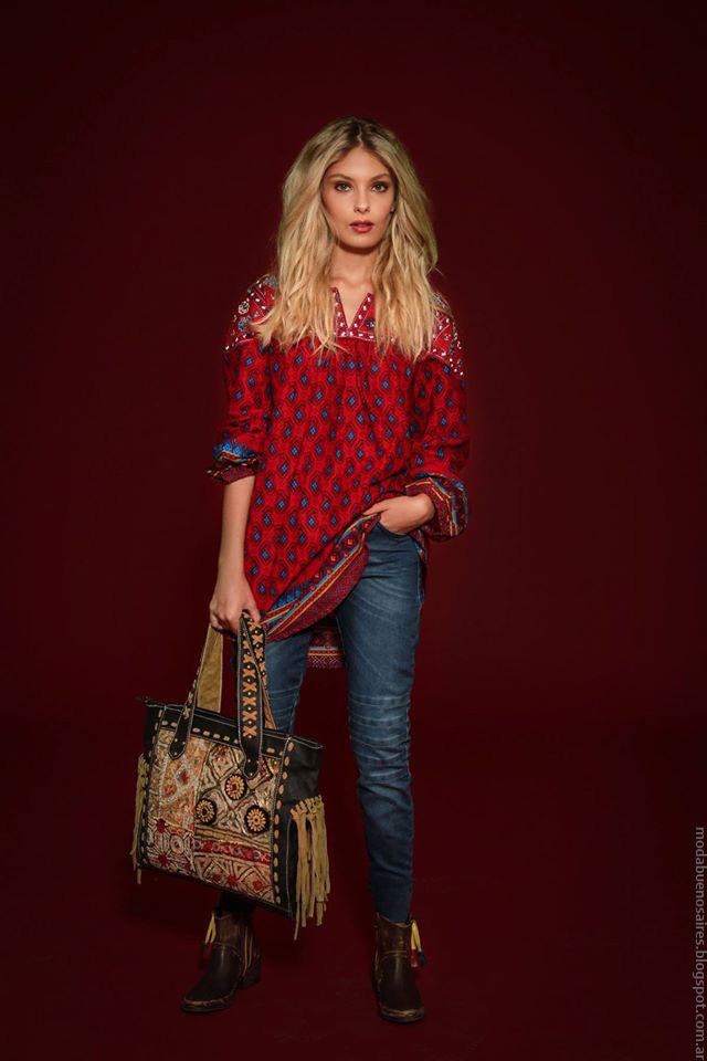 Tunicas y jeans de moda invierno 2016 Sophya mujer.