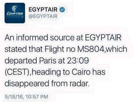 Egypt Air statement
