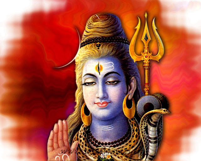 Lord Shiva  Wallpaper In Red Background