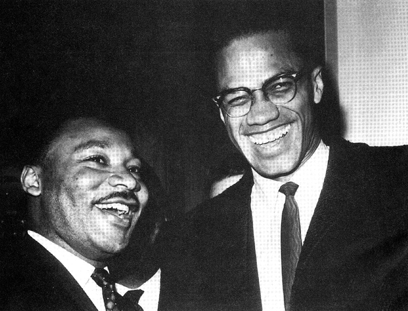 Compare malcolm x and martin luther