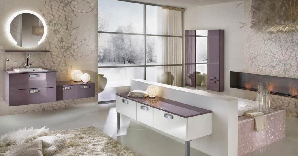 Inspiration salle de bain: Salle de bain moderne violine et ...