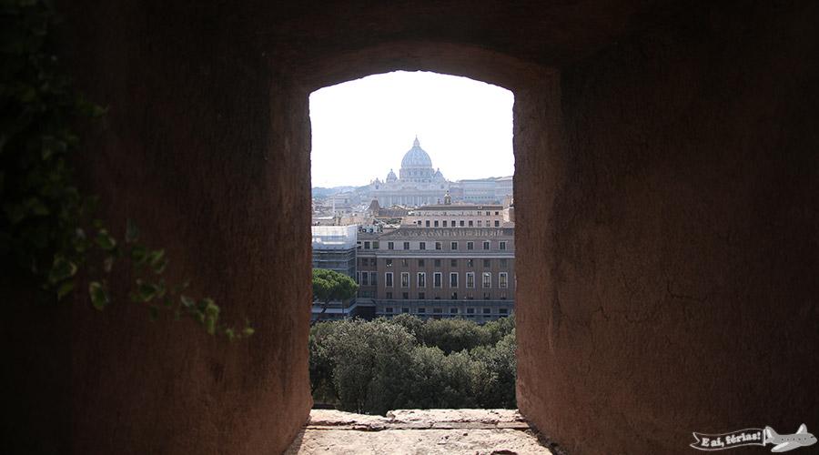 Basílica de São Pedro vista a partir do Castelo Sant'Angelo.