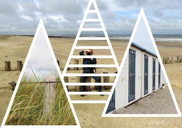 Strandportrait, Collage, digital art