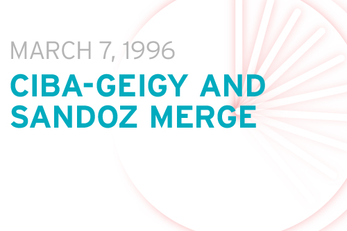the merger of ciba and geigy two swiss pharmaceutical companies The top pharmaceutical companies of 2012 that number two spot with the 1989 merger of multinational chemical companies: ciba-geigy (swiss.
