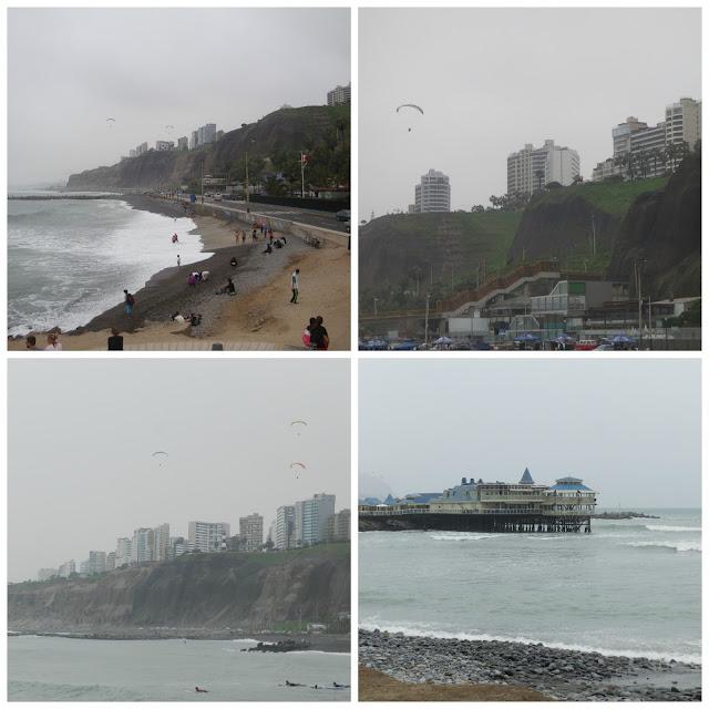 vista da praia em Miraflores, Lima, Peru