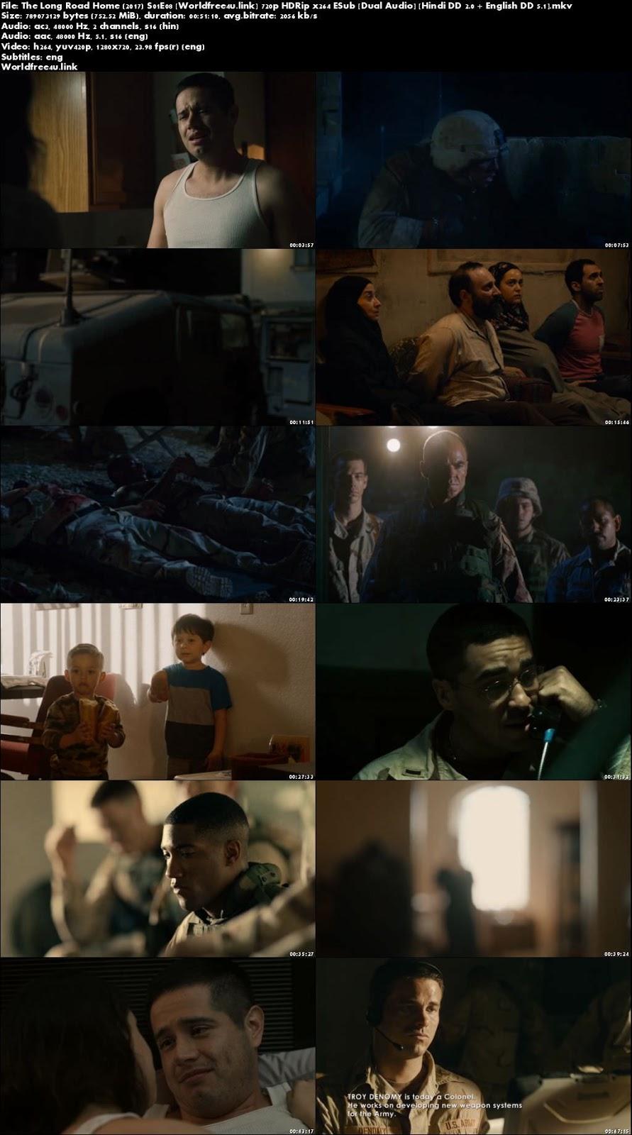 Screen Shoot of The Long Road Home 2017 S01E08 HDRip 720p Dual Audio Hindi English ESub