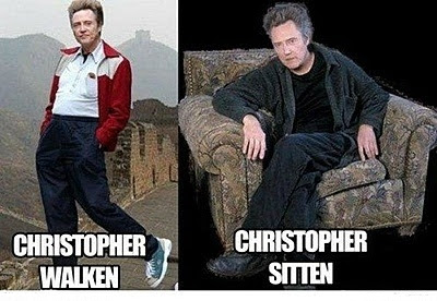 Christopher walken walking and sitting