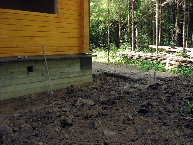 строим дом отмостки