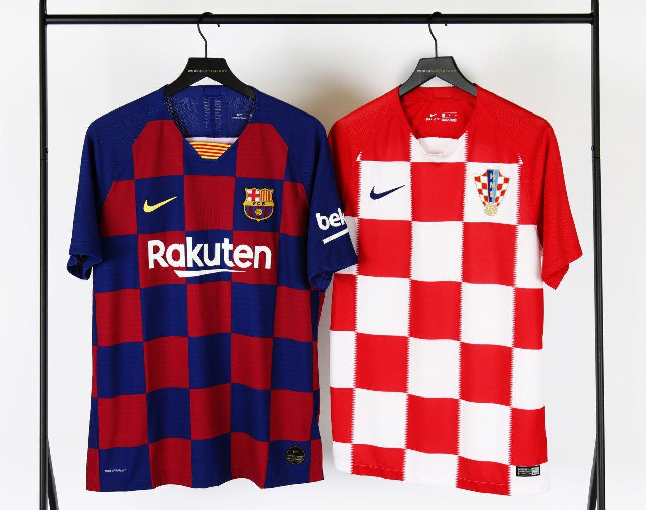 pretty nice 0c0ef 4bbb7 Every Detail Compared | Nike Croatia 2018 World Cup 2018 vs ...