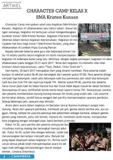 Mengenang Nulis. Id dan Ekskul Jurnalistik di SMA Kristen Kanaan Jakarta