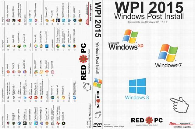 WPI 2015 Pack programas autoinstalables Español