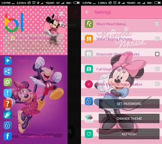 BBM Whatsapp Mod Mini Mouse V2.12.0.11 Apk Terbaru 2016