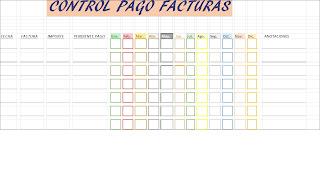 Excel para el control de pagos