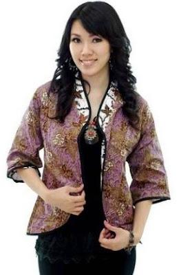 Model blazer batik untuk pesta