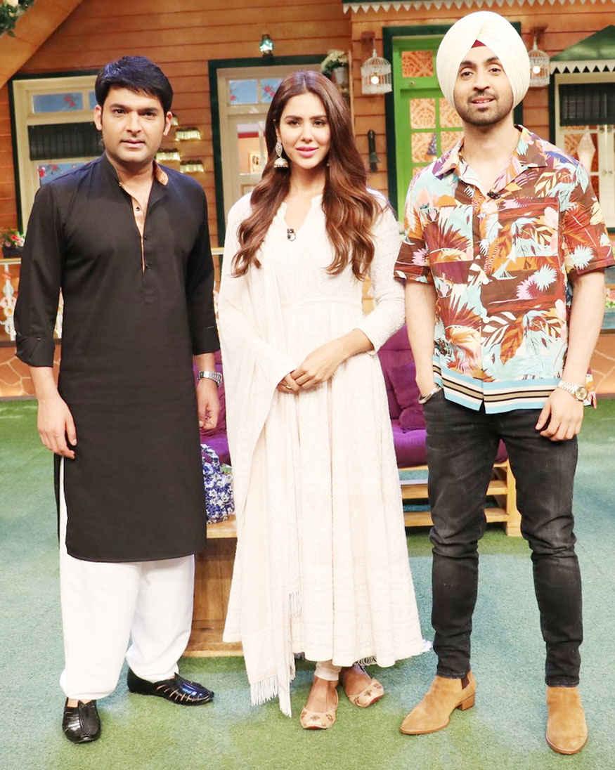 Kapil with Diljit Dosanjh and Sonam Bajwa Promoting Super Singh on The Kapil Sharma Show