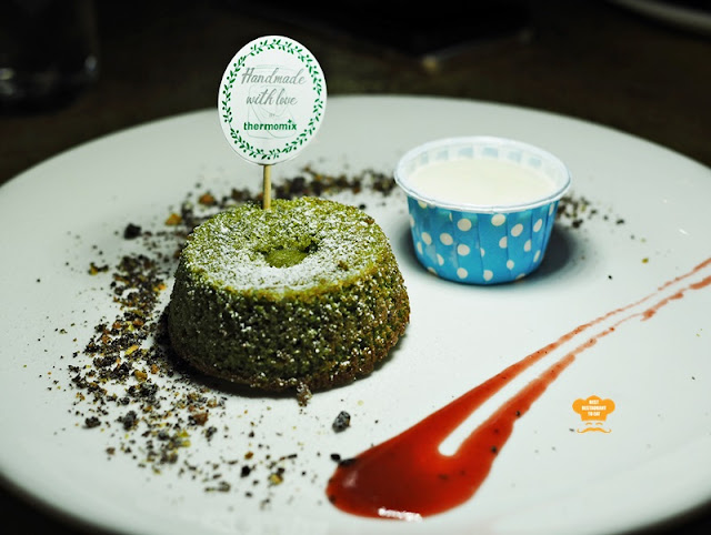 Green Tea Lava Cake Served With Lime Ice Popsicles Thermomix® Easy Meals For The Family Cookbook