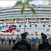 Hoy la terminal marítima luce un crucero de lujo Norwegian Pearl