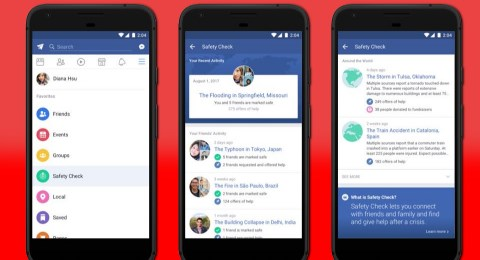 Facebook launched a dedicated tab for safety check