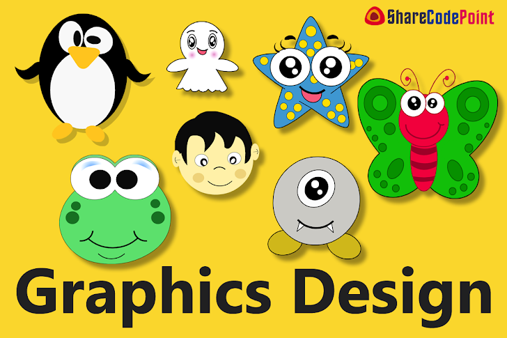 Learn ( How to make butterfly, Ghost, Man face, Star fish,  Cartoon, Penguin in Photoshop) Steps by Steps