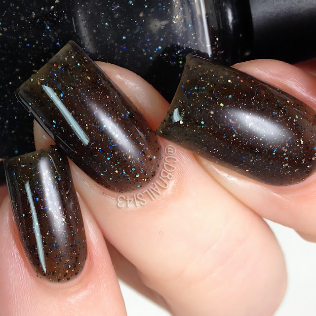 Poetry Cowgirl Nail Polish-Black Cats Love Holo