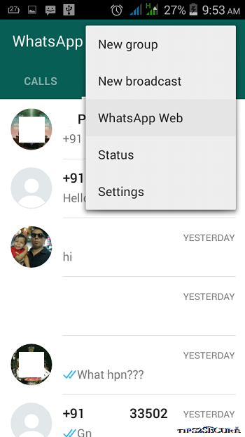 Whatsapp web to use whatsapp on desktop