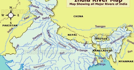 ... India River Map ...