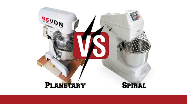 Perbedaan Mixer Spiral & Mixer Planetary untuk Adonan Roti