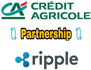 شراكة بين المجموعة البنكية Crédit Agricole  وعملة Ripple لتجربة تقنيات ال Blockchain