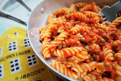 foto Ricetta pasta al ragù di lenticchie per bambini