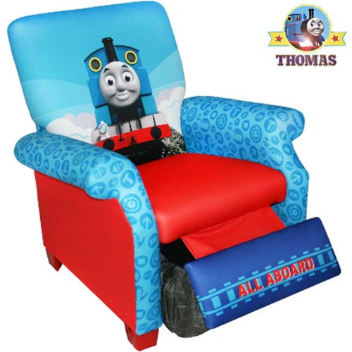 Decorate Your Toy Room Beautifully Cool Choo Train Thomas Tank Engine Recliner Chair For Boys