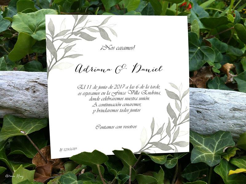 Acuarelas para invitaciones de boda