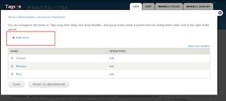 Proses pembuatan label/kategori taxonomy drupal 3