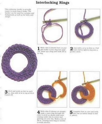 Como hacer Bufanda de Circulos de Crochet