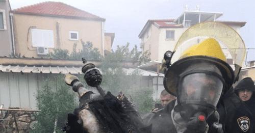 شاهد.. حريق داخل كنيس ليهود المغرب